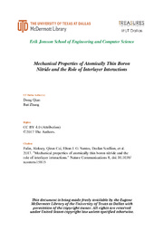 Mechanical Properties of Atomically Thin Boron Nitride and